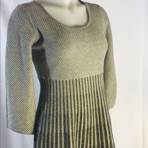 Calvin Klein Ombré Flared Long Sleeves Dress Sz S